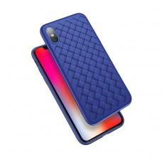 blue color fiber iphone x case