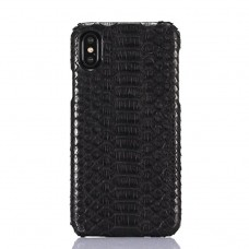 black color Crocodile skin iphone x / xs case cover