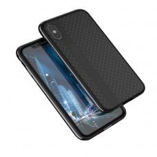 black color PU iphone x / xs back case