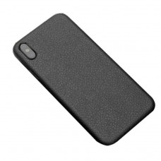 black color Genuine Leather iphone x / xs  case