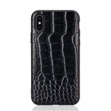 black color Crocodile skin iphone x / xs cover