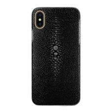 black color Pearl fish skin case for iphone x/xs