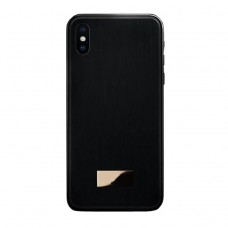black color metal back cover for iphone x/xs
