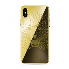Leopard head iphone gold with case  iphone for iphone x/xs