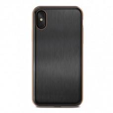 rose gold frame black color iphone x gold case
