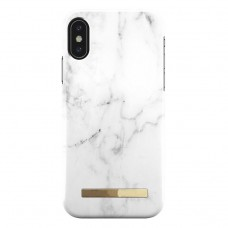white color Marble texture iphone x/xs case